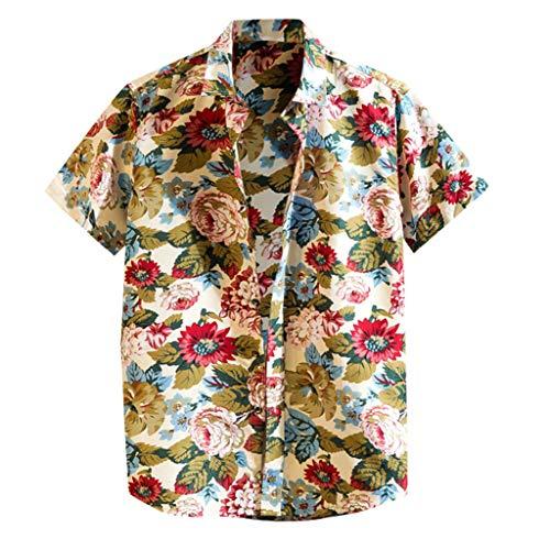 Mens Summer t Shirts Short Sleeve Tronet Mens Summer Fashion Shirts Casual Short Sleeve Beach Tops Loose Casual Blouse