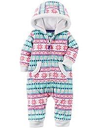 Baby Girls' Hooded Fair Isle Jumpsuit