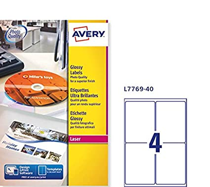 Avery L7 Round Labels White 199.6 x 143.5