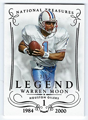 Football NFL 2014 National Treasures Legends Century Black #101 Warren Moon 2/5 Oilers