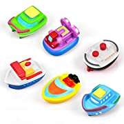 Bath Toy for Boys and Girls Rubber Boat Sets for Toddlers & Kids Fun Educational