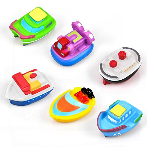 Bath Toy for Boys and Girls Rubber Boat Sets for Toddlers & Kids Fun Educational - Toddler Boat