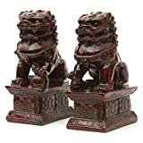 "Oriental Furniture 6"" Fu Dog Statues"