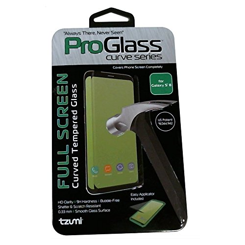 Tzumi ProGlass for Samsung Galaxy S8 – Premium Tempered Glass Screen Protector with Easy Application and Cleaning Kit – For High-Definition Clarity, Screen Protection And Scratch-Resistance by Tzumi