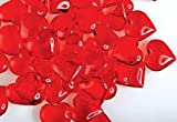 192 Translucent Red Acrylic Hearts for Vase Fillers, Table Scatter, or Decoration - Valentines Day or Wedding by Modern Vase & Gift