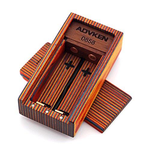 H&W Ecig Maquinaria Mod Wooden V3 Box Vapeador Battery Mod #B Sin Nicotina: Amazon.es: Salud y cuidado personal