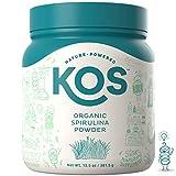 KOS Organic Spirulina Powder   Pure Non-Irradiated Blue Hawaiin Spirulina Powder   USDA Organic Immunity Enhancing Plant Based Superfood, 381g, 109 Servings