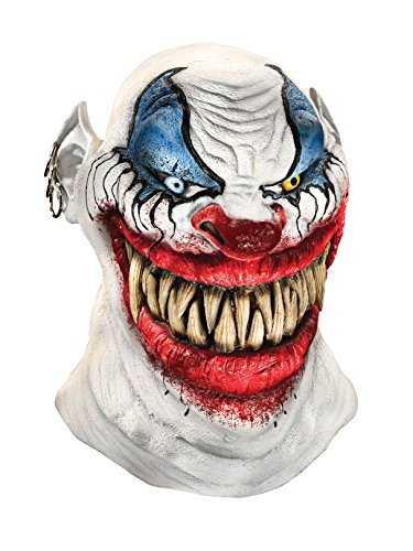 Foam Latex Mask, Deluxe Chopper The Clown -