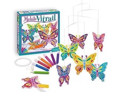 Sentosphère - Loisirs Créatifs - Mobile vitrail Papillons SENTOSPHERE