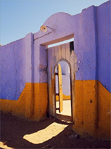 Nubian Village (Courtyard Entrance in Nubian Village Across The Nile from Luxor, Egypt by Tom Haseltine/Danita Delimont Laminated Art Print, 37 x 50 inches)