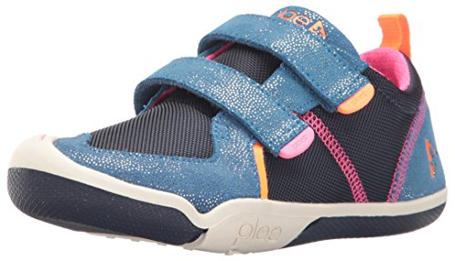 Plae Kids TY Suede/Nylon Navy/Pink Shoe