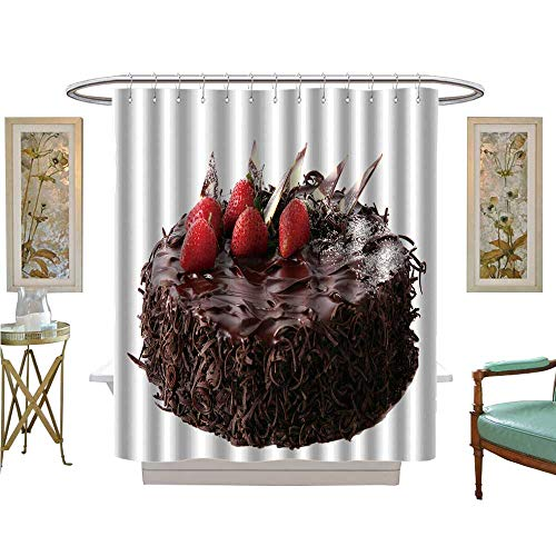 luvoluxhome Shower Curtains with Shower Hooks Tasty and Sweet Dessert Snack Bathroom Decor Set with Hooks W72 x L72]()