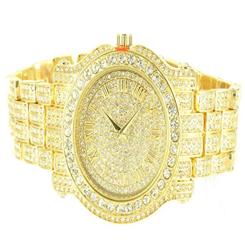 Diamond & Co. Men's 5275470 Ice King Analog Japan Quartz Golden Watch