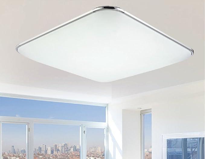 Plafoniera Led Slim Quadrata : Bfdgn slim led luce da soffitto rettangolo quadrato disegno dimmer
