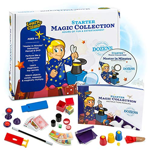 Learn & Climb Beginners Magic kit Set for Kids - Exciting Magician Tricks, Manual + Instruction DVD -