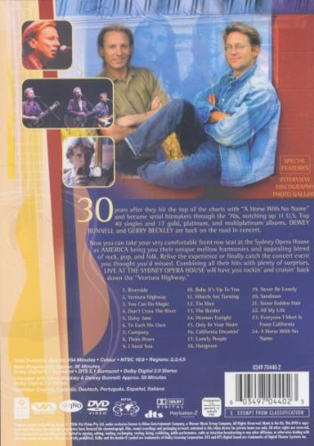America: In Concert - Live at the Sydney Opera House by WEA HOME VIDEO