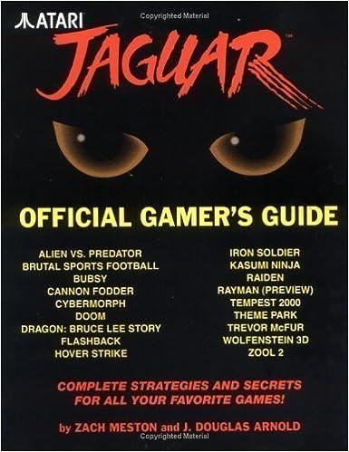 Atari Jaguar Official Gamers Guide Book (Jaguar) by Meston ...