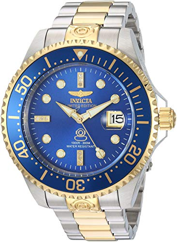 Invicta Men's Pro Diver Automatic-self-Wind Diving Watch with Two-Tone-Stainless-Steel Strap, 22 (Model: 20144) ()