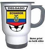 Agustin Delgado (Ecuador) Soccer White Stainless Steel Mug