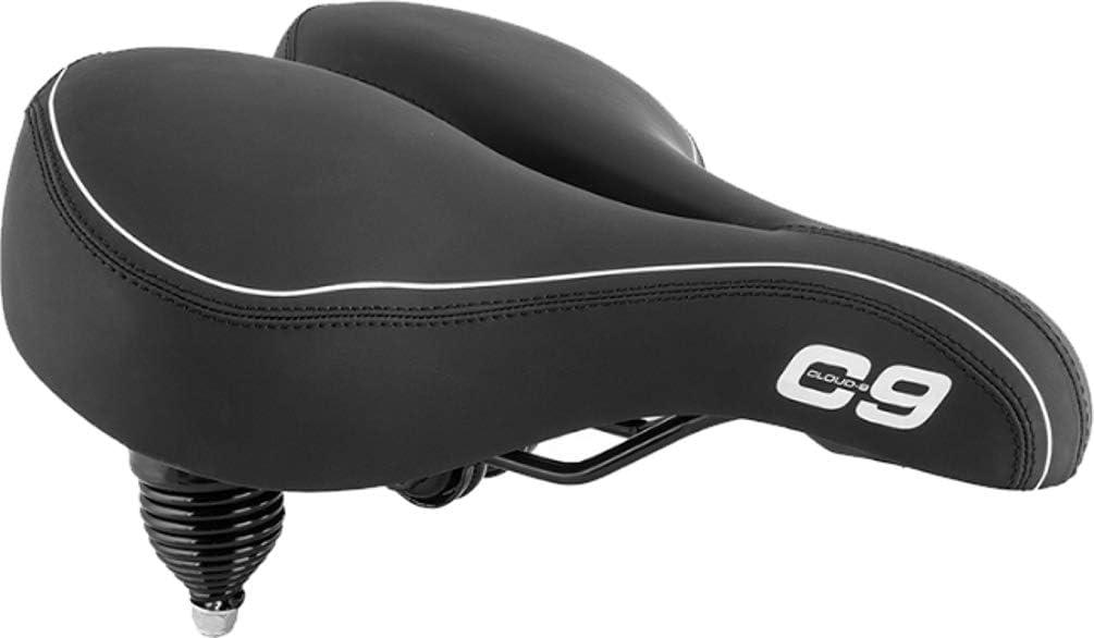 Sunlite Cloud-9, Bicycle Suspension Cruiser Saddle, Cruiser Gel Sofa, Black