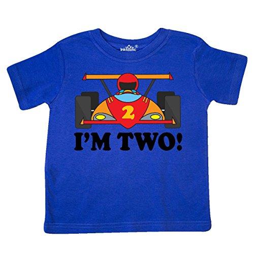 - inktastic - Race Car 2nd Birthday Boys Racing Toddler T-Shirt 2T Royal Blue 6519
