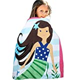 HAPEE Kids Hooded Poncho Towel 100% Cotton Perfect for Bath, Swim, Pool and Beach, Cute Cartoon snap for girls