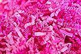 10 OZ Crinkle Paper Shred Filler for Gift Wrapping, 100% Recyclable Crinkle Paper Shred Filler for Gift Wrapping, Basket and Box Filling (10oz) (Pink)