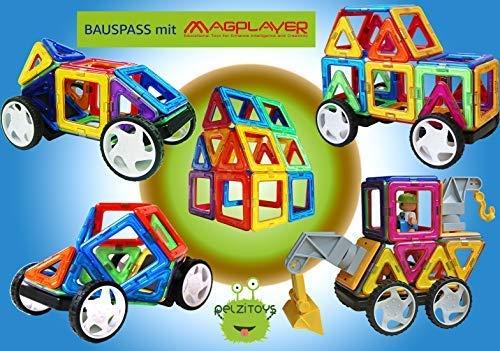 Bau- & Konstruktionsspielzeug-Sets Magplayer Magnetisches Konstruktionsspielzeug 198 Teile