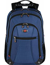 SwissGear® Skywalk Double Gusset 16 Padded Laptop Backpack -Black-Blue