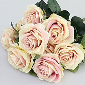 Rvbyjfg Artificial Rose Bouquet Fake Flower Daisy Wedding Decoration Party Accessories Pink 86