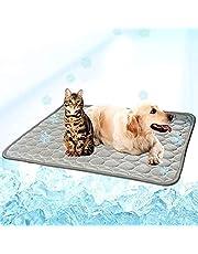 BYMEMYR Zomer Koeling Mat voor Honden Zelf Hond Koeling Mat Ademend Pet Crate Pad Draagbare Wasbare Draaddier Deken Deken (Color : Gray, Size : XS 40X30CM)