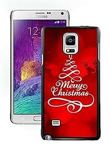 Customization Merry Christmas Black Samsung Galaxy Note 4 Case 23Kimberly Kurzendoerfer