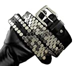 Classic Punk Goth Rock Hip hop Mens Unisex Metal Buckle + Leather Belt