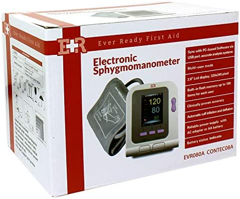 Ever Ready First Aid FDA Approved Fully Automatic Upper Arm Blood Pressure Monitor 3 Mode 3 Cuffs Electronic Sphygmomanometer