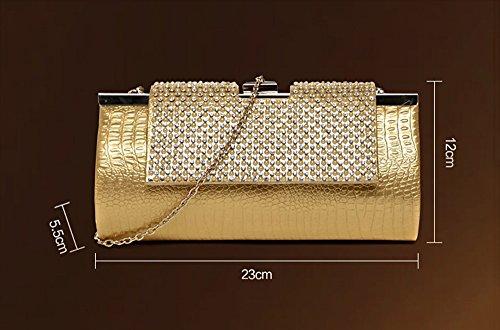 Gray Bag Bag and Gray Package Evening Dress Color Bag Bridal Bag and Cheongsam Banquet Bag Black Clutch Handbags Diamond Black 4qEa4