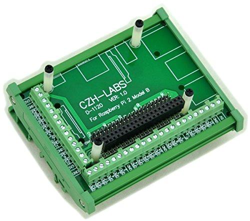 Electronics-Salon DIN Rail Mount Screw Terminal Block Adapter Module, For Raspberry Pi 1 Model B+ / Pi 2 Model B / Pi 3 Model B / Pi 1 Model A+. by Electronics-Salon