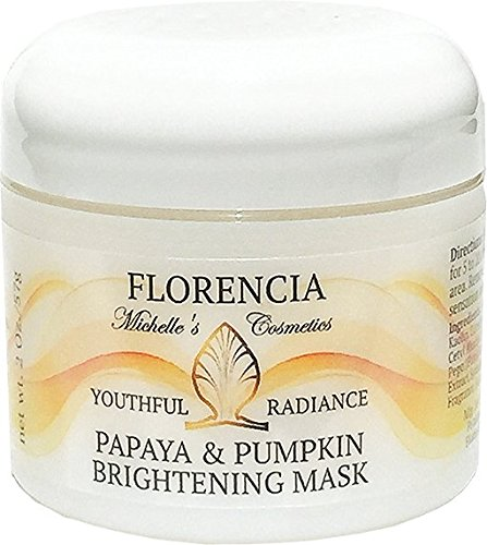 Florencia Papaya & Pumpkin Brightening Exfoliating Mask, Youthful Radiance, Deep Exfoliation. Normal, Dry, Oily, Combination Skin Type. (Exfoliating Papaya)