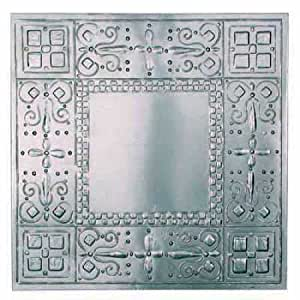 """Package of 6 - 12"""" x 12"""" Vintage Look Reproduction Galvanized Metal Embossed Tin Checks Ceiling Tiles"""