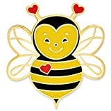 PinMart PinMart's Cute Love Bee Valentine's Day Heart Enamel Lapel Pin