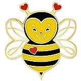 PinMart Cute Love Bee Valentine's Day Heart Enamel Lapel Pin