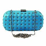61147 Nila Anthony Hard case clutch (Blue)