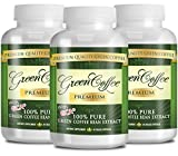 100% Pure Green Coffee Bean Premium Extract - 50% Chlorogenic Acid - Natural Weight Loss, Antioxidant and Metabolism Booster - 180 Vegetarian Capsules