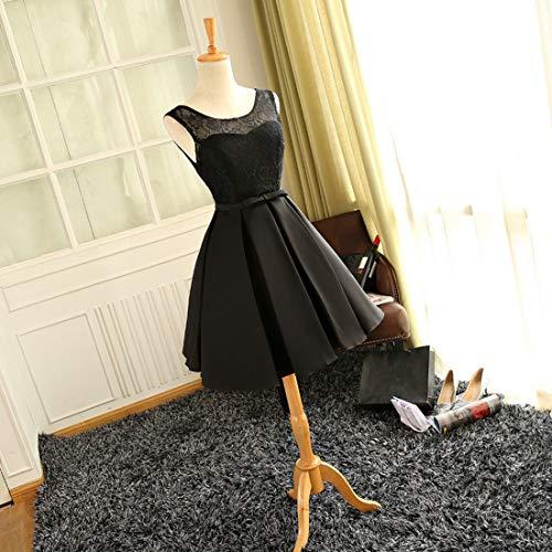 color Línea Black Funytine Size Para Una De Pink Dama Rojo L Fiesta Honor Delgada Vestido Noche Mujer rRar7