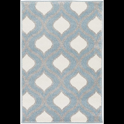 - Diva At Home 2' x 3' Gated Raindrops Pale Steel Blue, Light Charcoal Gray and Ivory Area Throw Rug