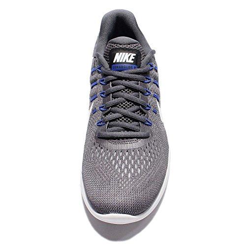 Nike Mens Lunarglide 8 Hardloopschoenen Donkergrijs / Top Wit-wolf Grijs