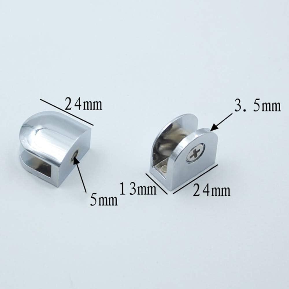 Ymwave 6 Pi/èces Pince /à Verre Alliage de Zinc Pince /à Verre Pince de Fixation pour Verre de 6-8 mm D/épaisseur