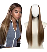SARLA Full Head U Part Wig for Women Clip in Hair Extensions 24 Inch Long Straight Hair Pieces Sy...