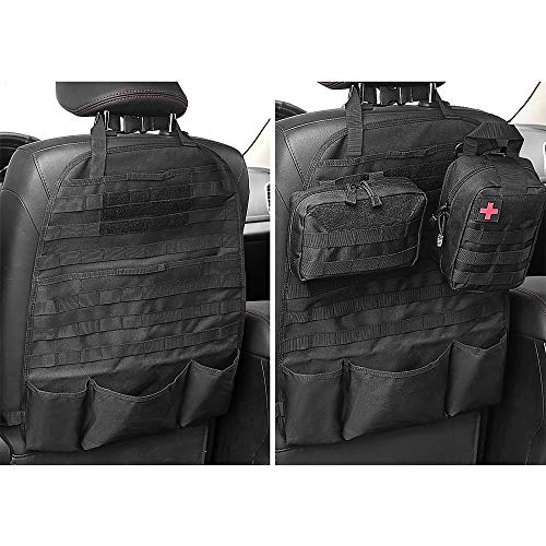 - AIRSOFTPEAK Car Backseat Organizer Tactical Molle Panel Seat Back Protector Cover Nylon Vehicle Car Back Seat Cover Pocket Storage