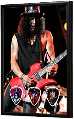 Slash (WK) Live Performance Framed Guitarra Pick Display: Amazon ...