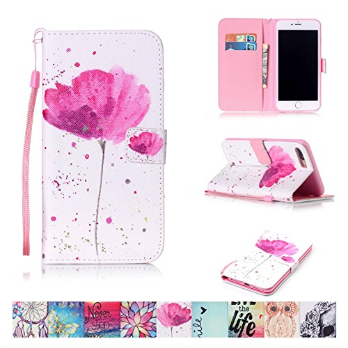 (iPhone 7 Plus Case, Firefish [Kickstand] Flip Folio Wallet Cover Anti-Scratches Protective Shell with Cards Slots Magnetic Closure for Apple iPhone 7 Plus)